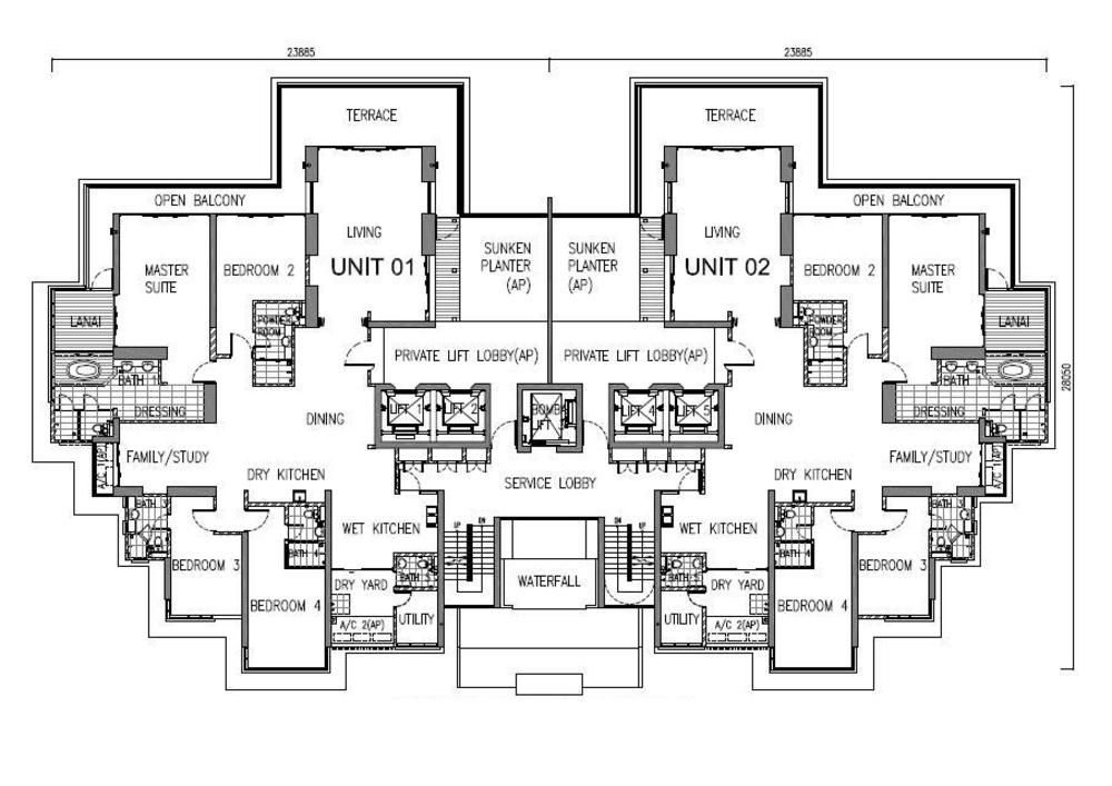 One Tanjong Typical Unit Floor Plan