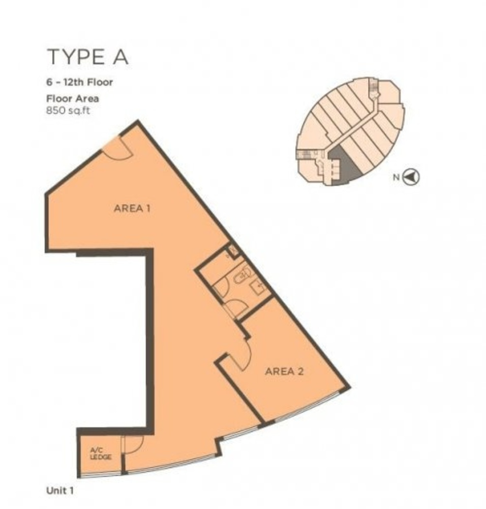 One One Eight Type A (Unit 1) Floor Plan