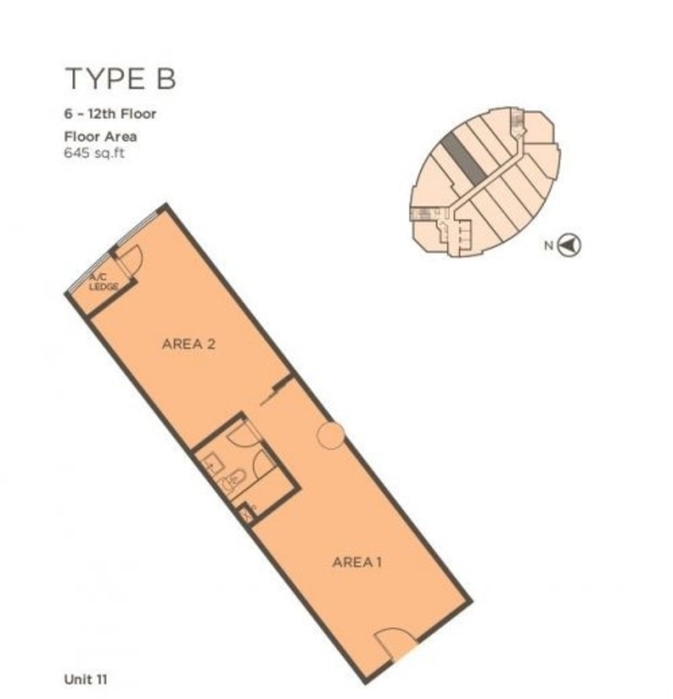 One One Eight Type B (Unit 11) Floor Plan