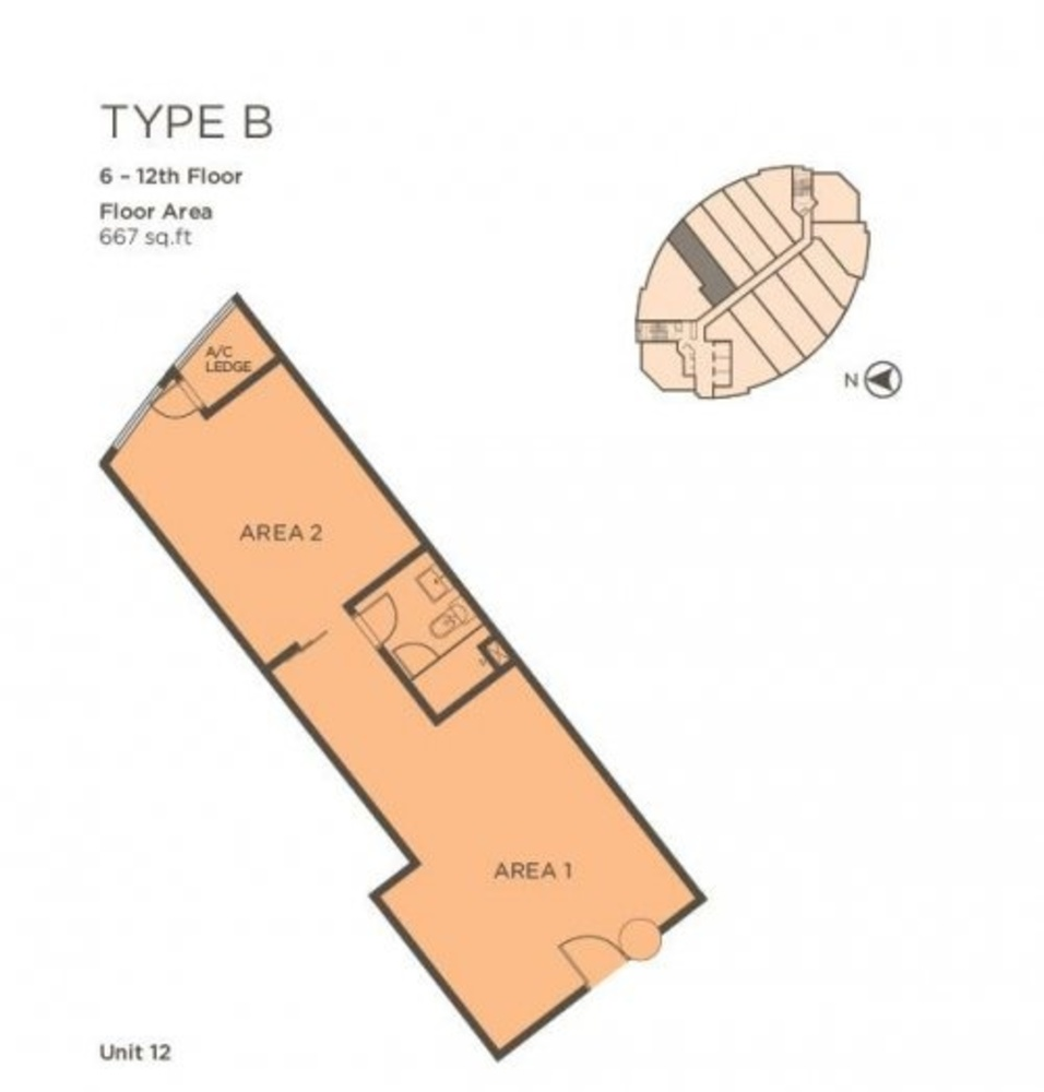 One One Eight Type B (Unit 12) Floor Plan