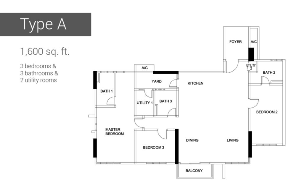 Raffel Tower Type A Floor Plan