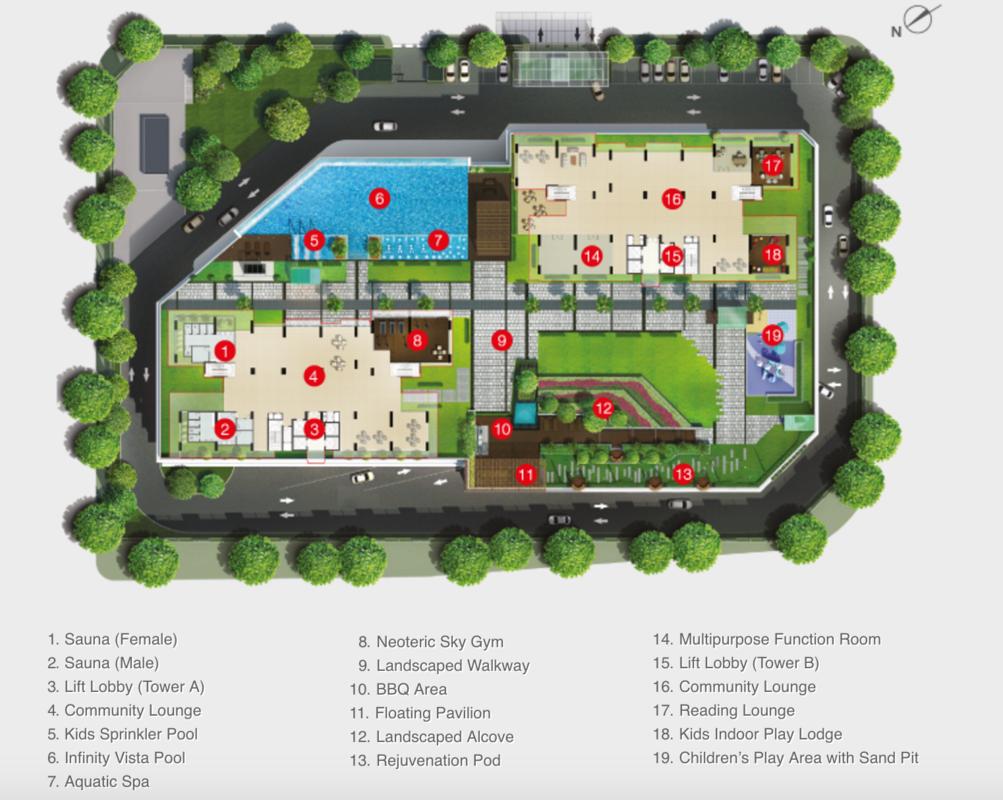 Master Plan of Raffel Tower