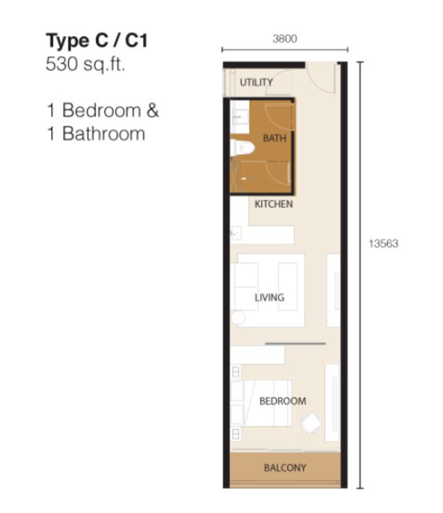 Ion Delemen Block 2 - Type C & C1 Floor Plan