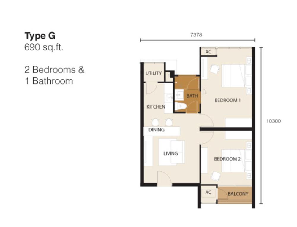 Ion Delemen Block 2 - Type G Floor Plan