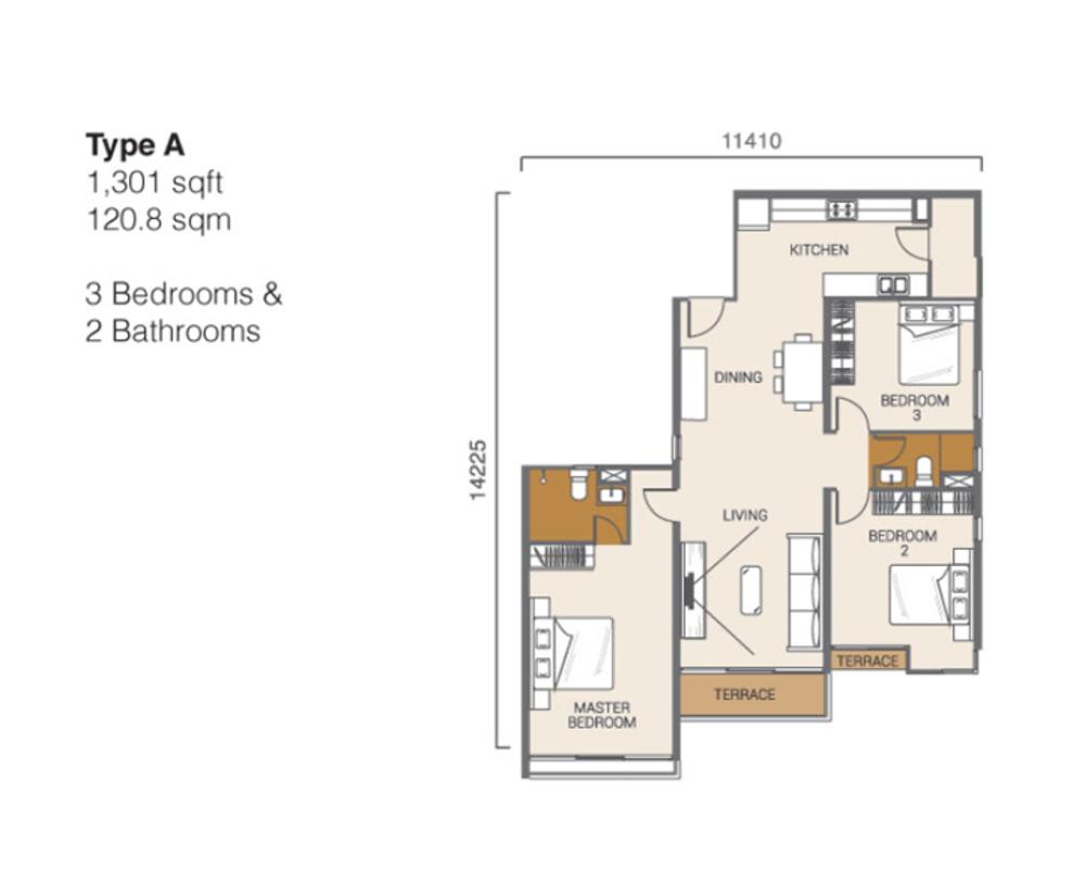 Ion Delemen Block 3 - Type A Floor Plan