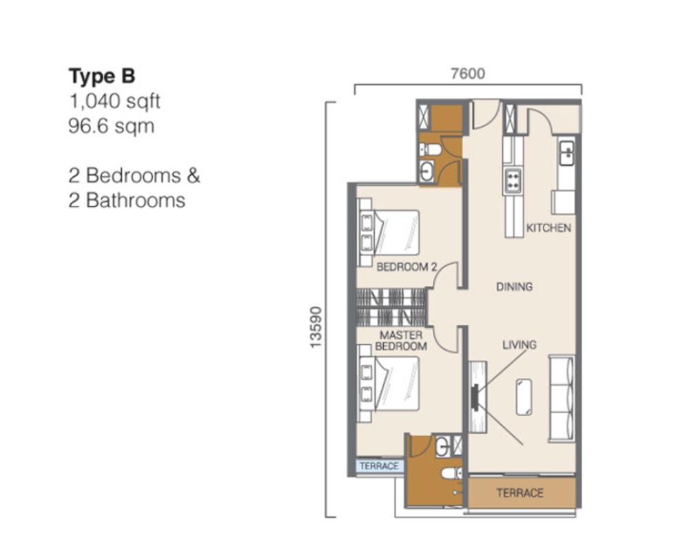 Ion Delemen Block 3 - Type B Floor Plan