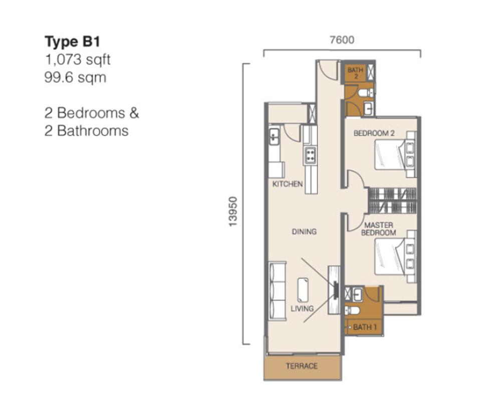 Ion Delemen Block 3 - Type B1 Floor Plan