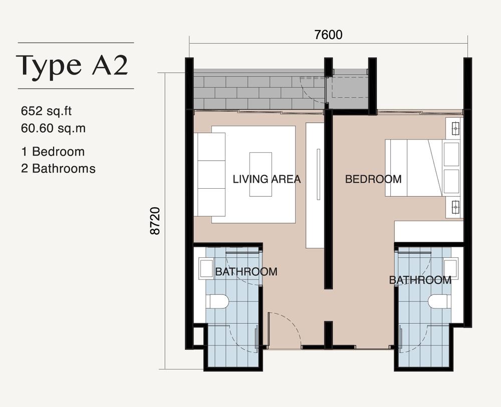 Ion Delemen Block 7 - Type A2 Floor Plan