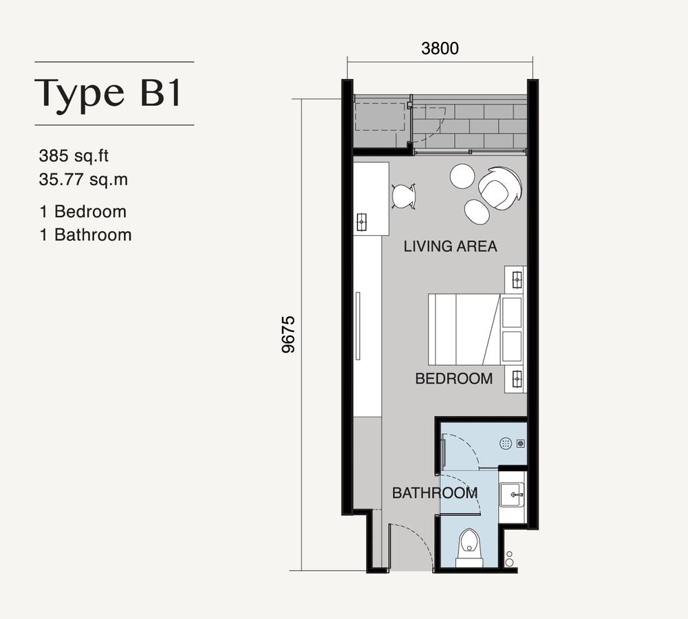 Ion Delemen Block 7 - Type B1 Floor Plan