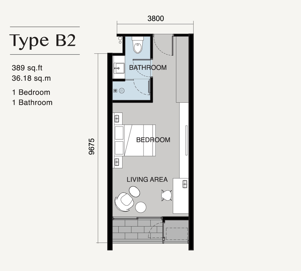 Ion Delemen Block 7 - Type B2 Floor Plan