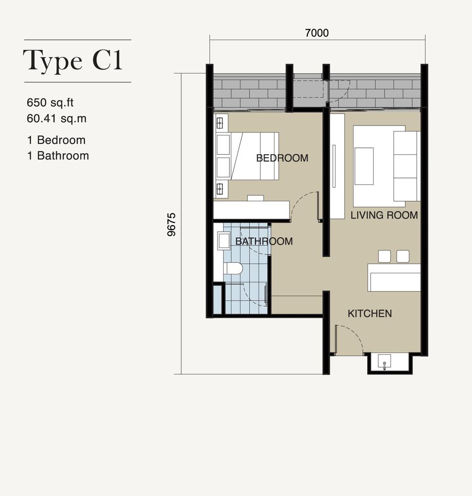 Ion Delemen Block 7 - Type C1 Floor Plan