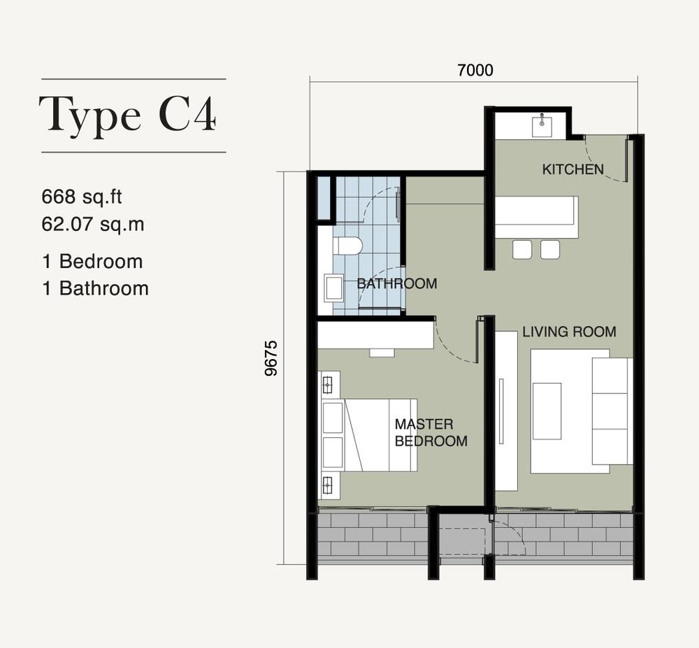 Ion Delemen Block 7 - Type C4 Floor Plan