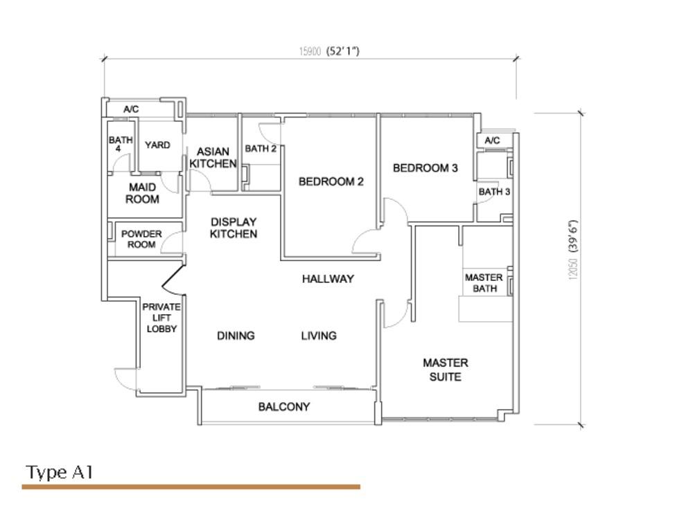 Sé Terra Type A1 Floor Plan