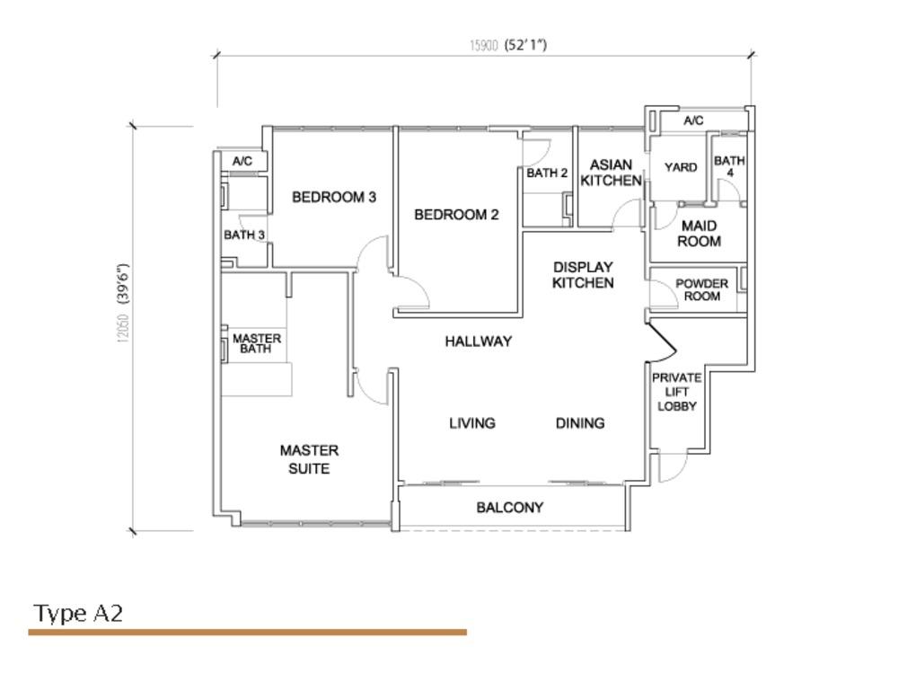 Sé Terra Type A2 Floor Plan