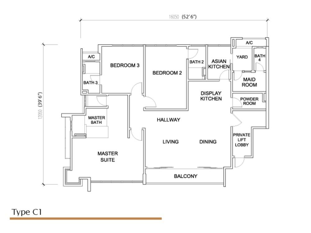 Sé Terra Type C1 Floor Plan