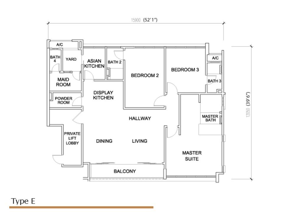 Sé Terra Type E Floor Plan