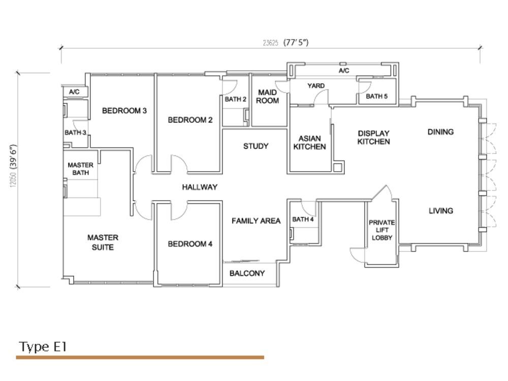 Sé Terra Type E1 Floor Plan