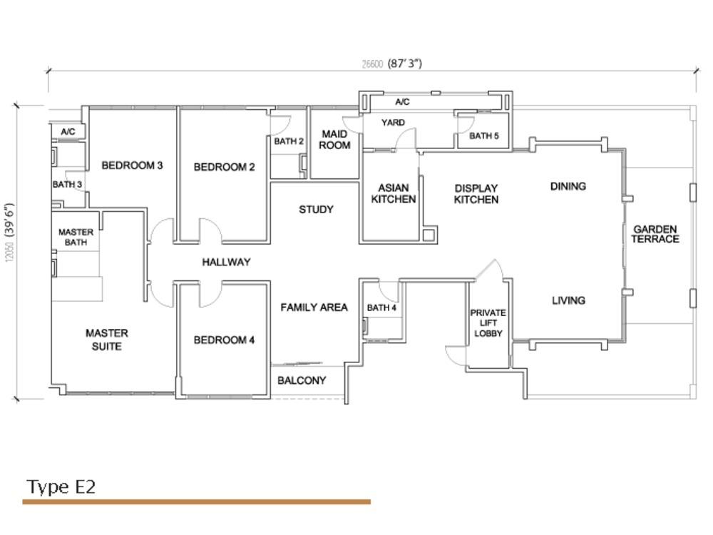 Sé Terra Type E2 Floor Plan
