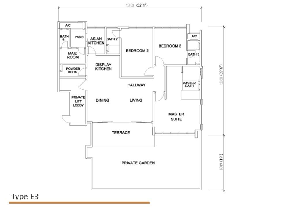 Sé Terra Type E3 Floor Plan