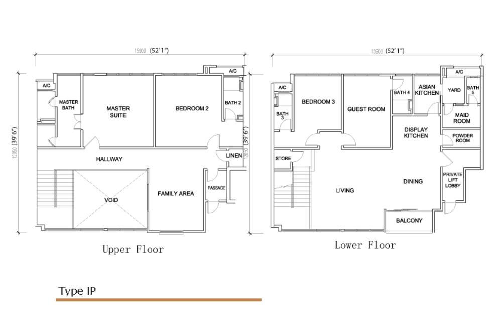 Sé Terra Type IP Floor Plan