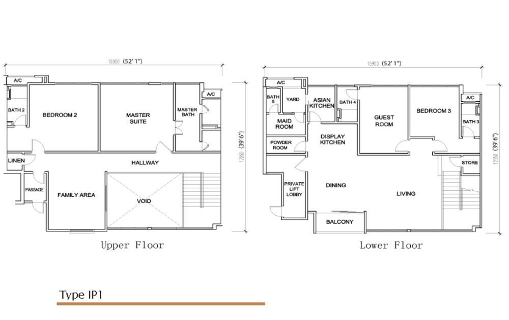 Sé Terra Type IP 1 Floor Plan