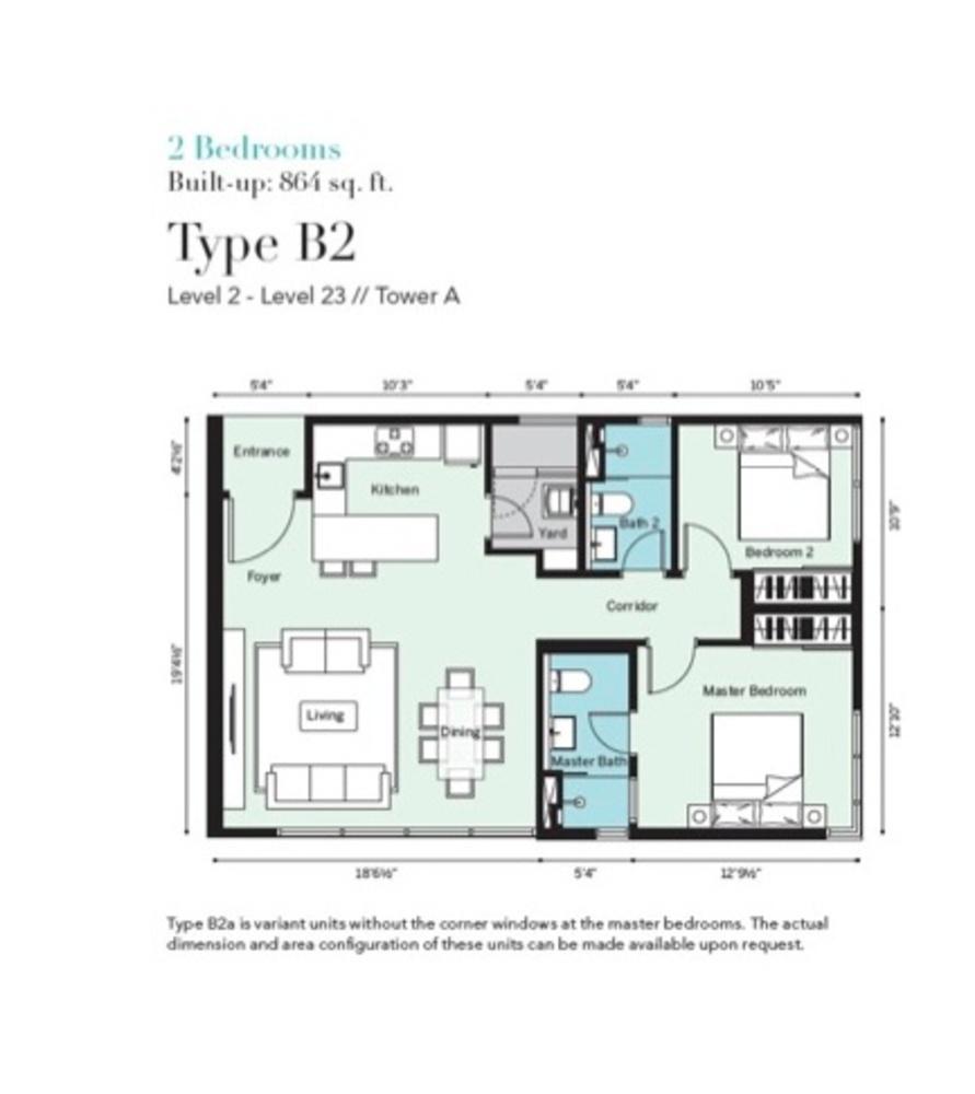 Tropicana Metropark Pandora - Type B2 Floor Plan