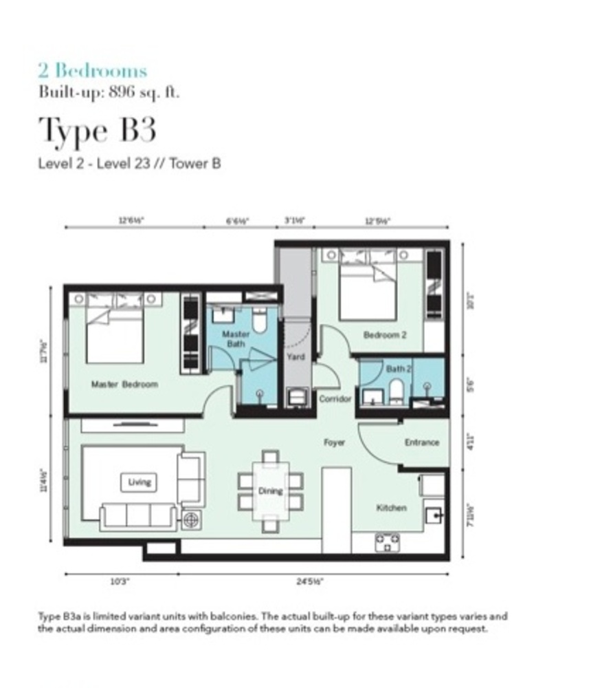 Tropicana Metropark Pandora - Type B3 Floor Plan