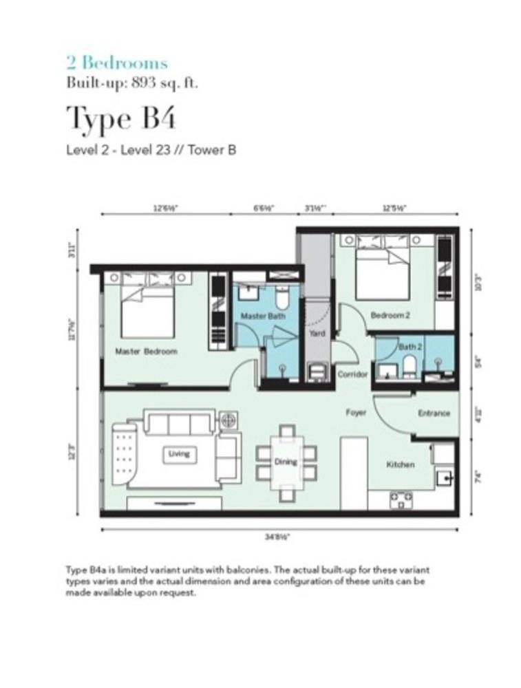 Tropicana Metropark Pandora - Type B4 Floor Plan