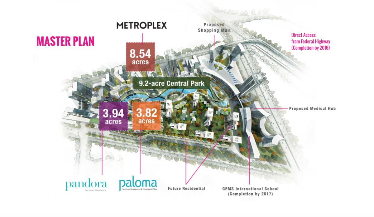 Master Plan of Tropicana Metropark