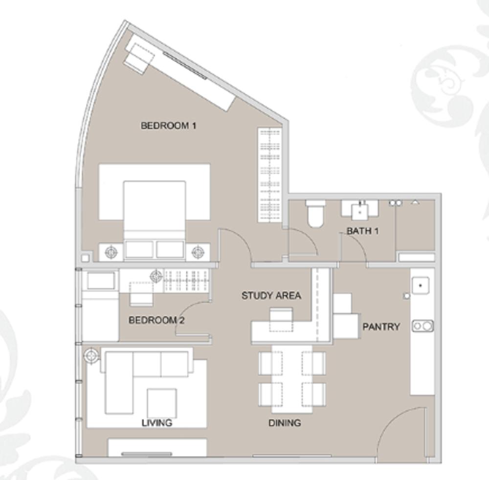 Regalia @ Jalan Sultan Ismail Type B (B7) Floor Plan