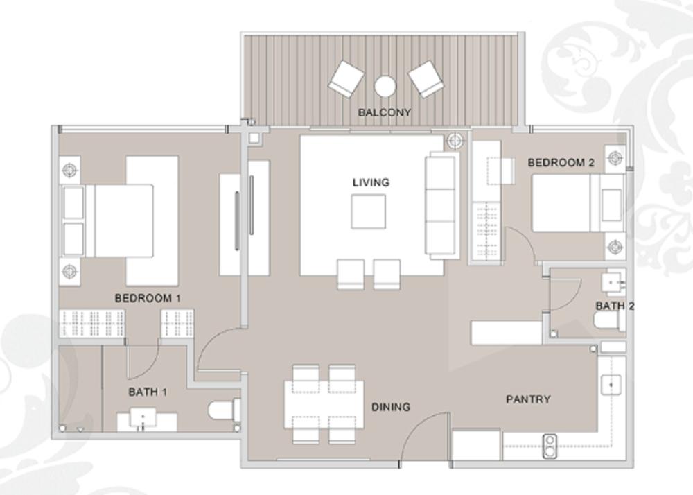 Regalia @ Jalan Sultan Ismail Type C (C6) Floor Plan