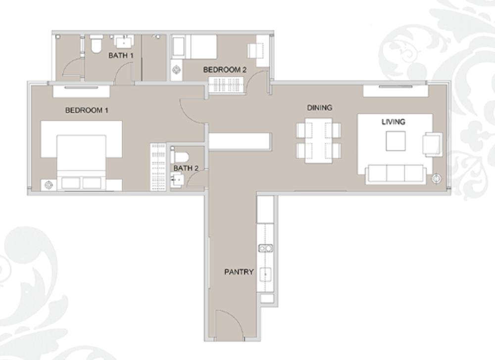 Regalia @ Jalan Sultan Ismail Type C (C7/7A) Floor Plan