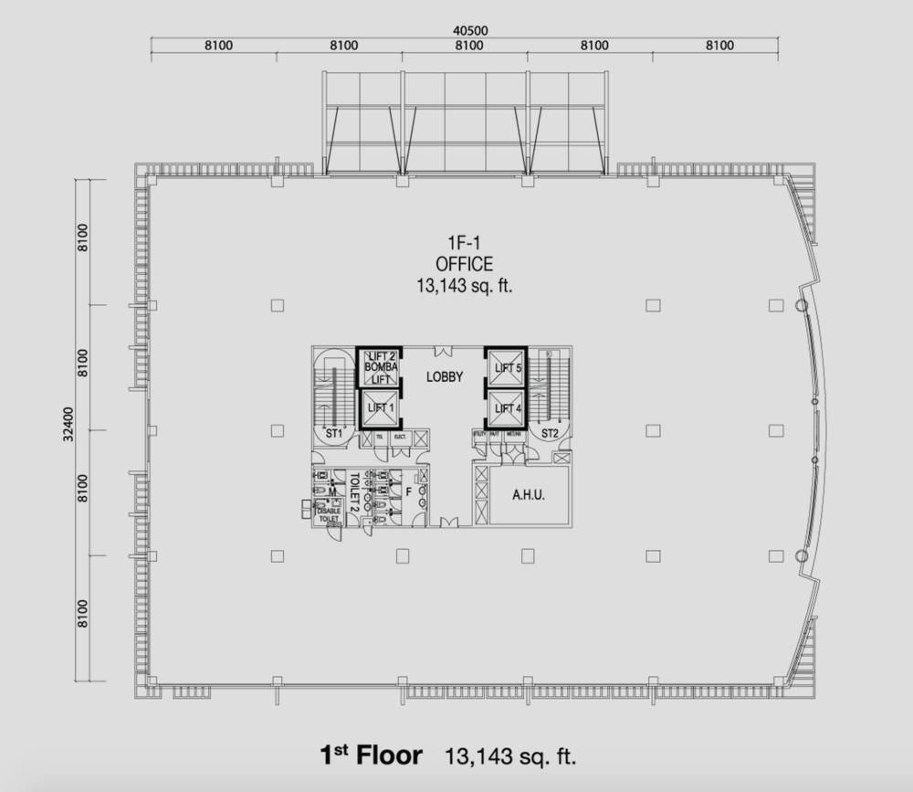PFCC Tower 1 First Floor Floor Plan