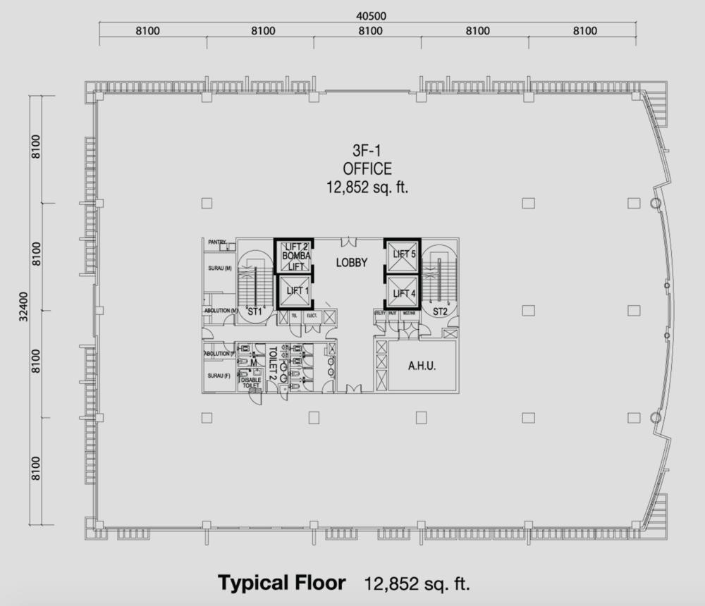 PFCC Tower 1 Typical Floor Floor Plan