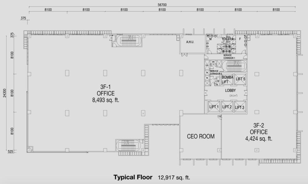 PFCC Tower 2 Typical Floor Floor Plan