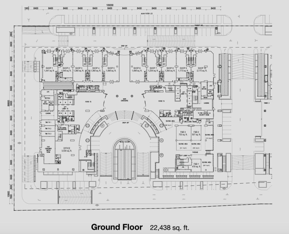 PFCC Tower 4 & 5 Ground Floor Floor Plan