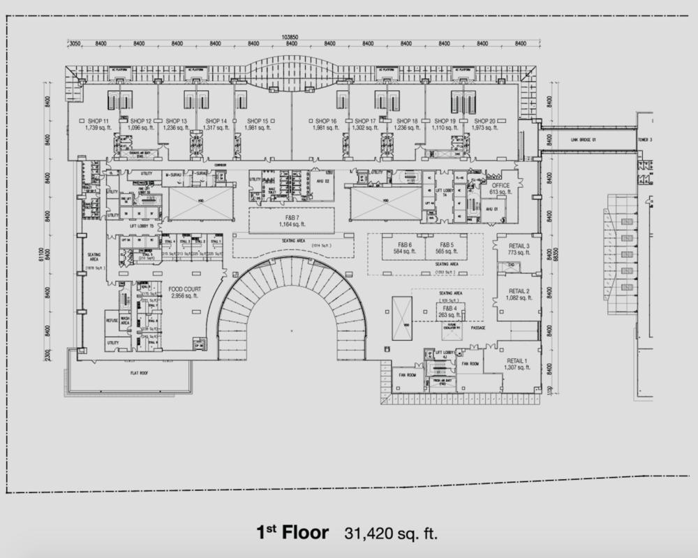 PFCC Tower 4 & 5 First Floor Floor Plan