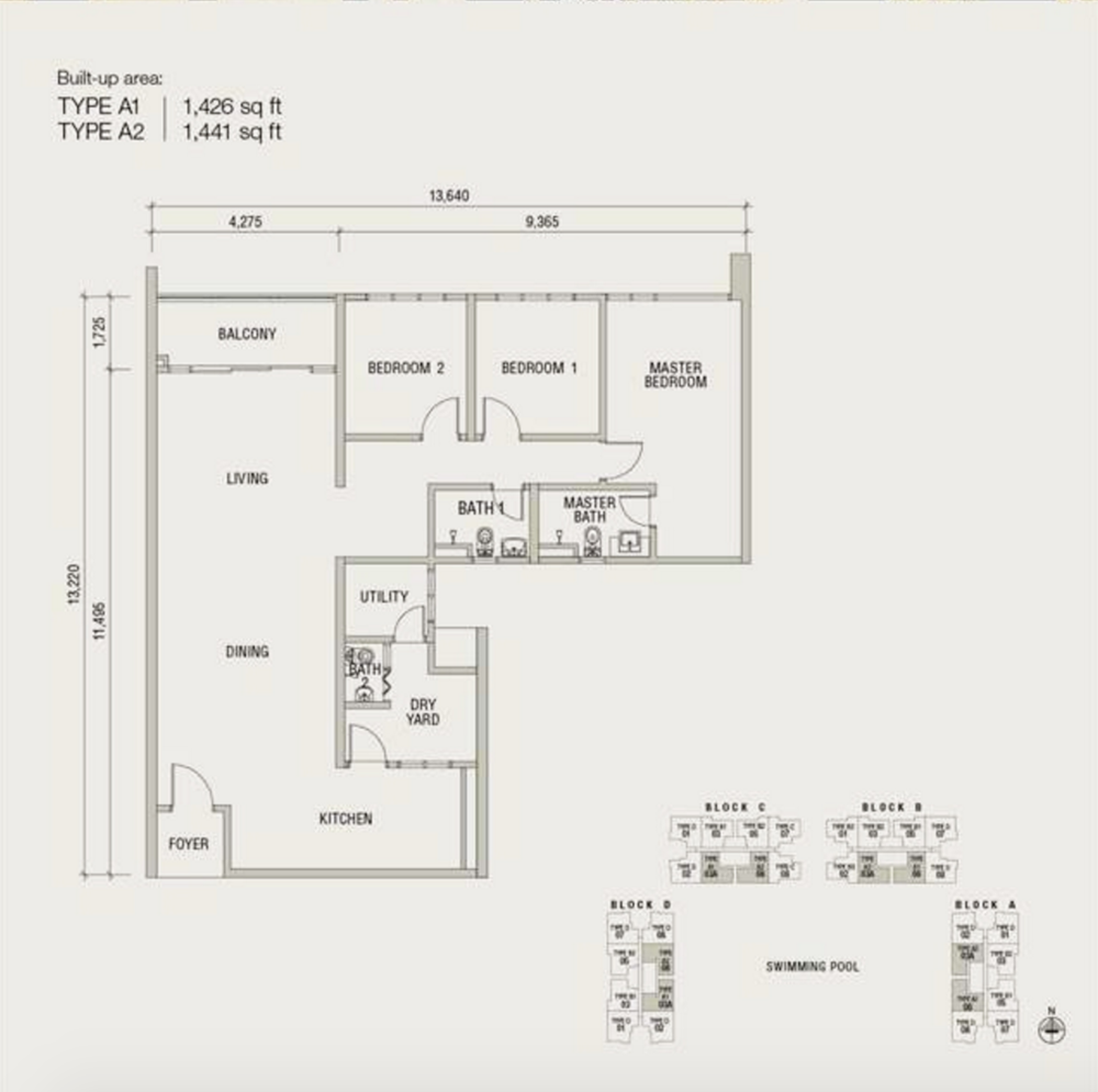 Damansara Foresta Type A Floor Plan