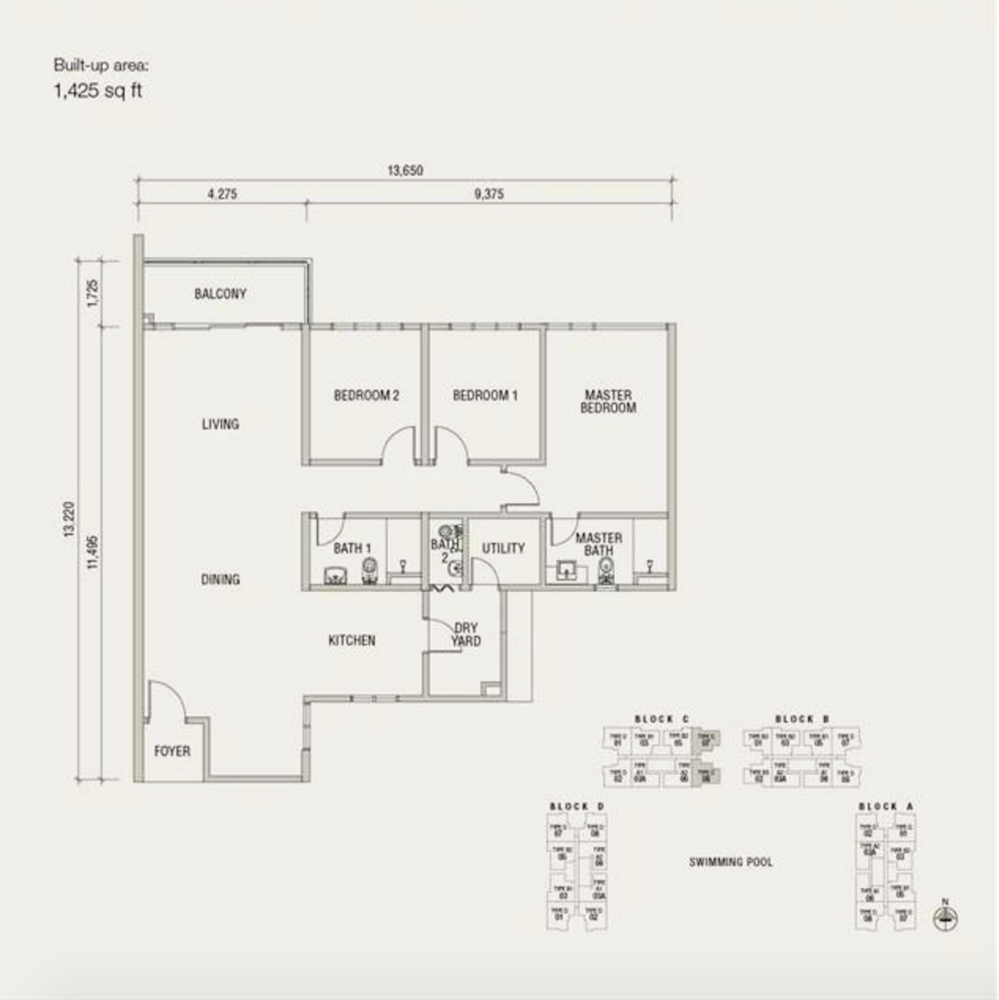 Damansara Foresta Type C Floor Plan