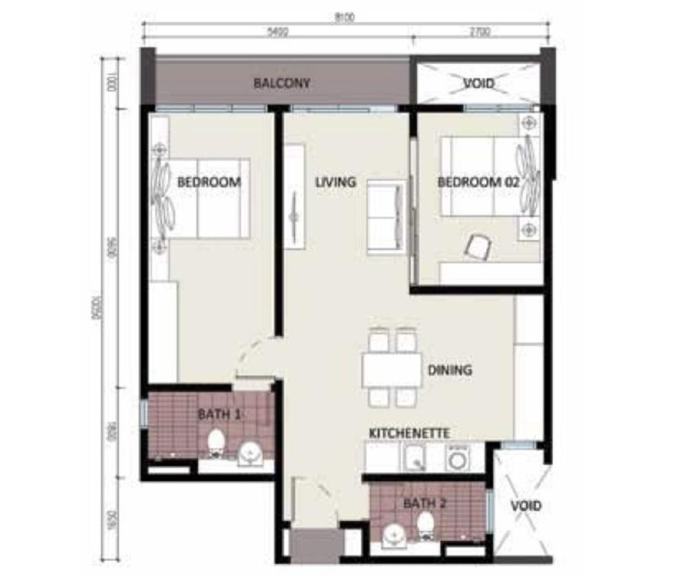 CyberSquare Type A Floor Plan