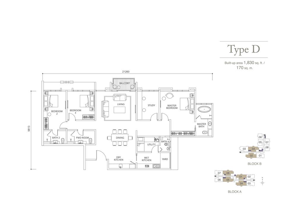 Pavilion Hilltop Type D Floor Plan