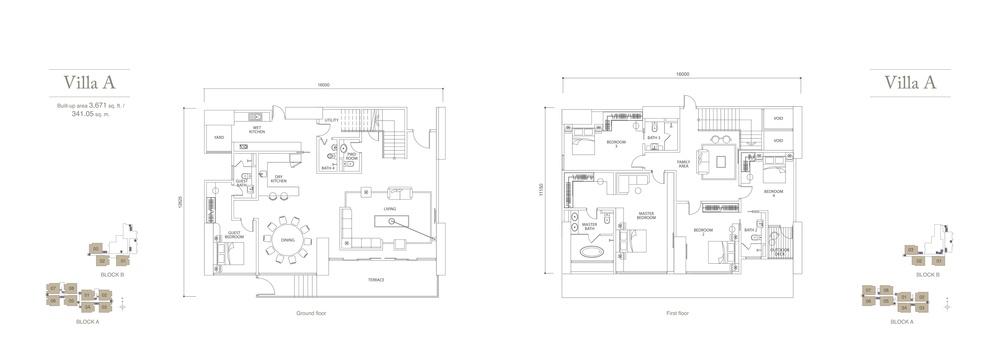 Pavilion Hilltop Villa A Floor Plan
