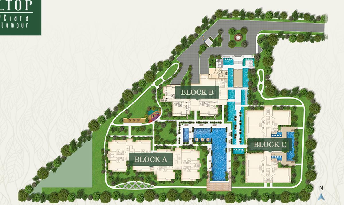 Master Plan of Pavilion Hilltop