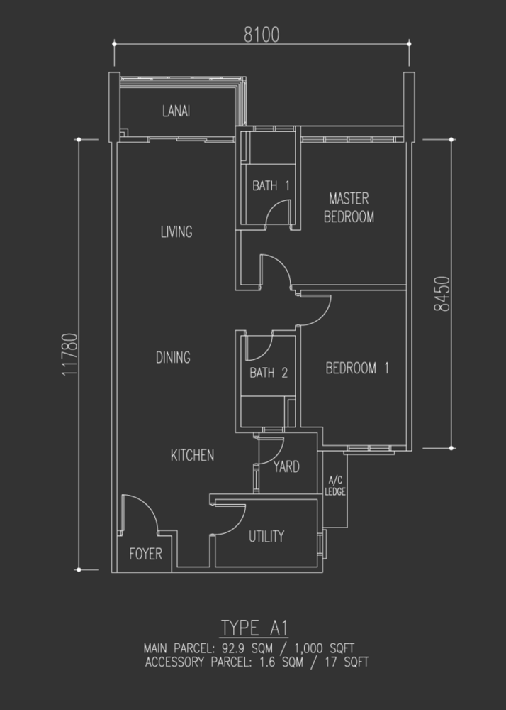 Selayang 18 Type A1 Floor Plan