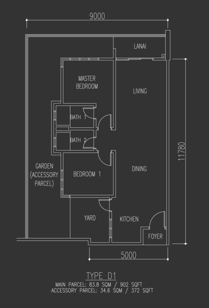 Selayang 18 Type D1 Floor Plan
