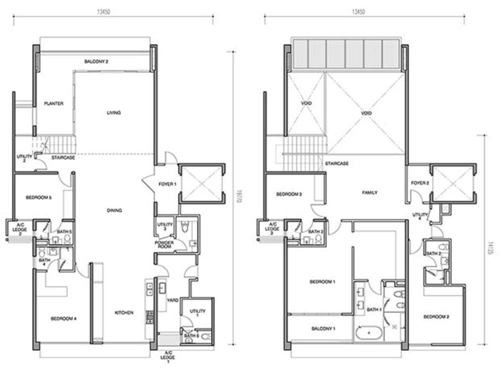Seri Ampang Hilir Type AP1 Floor Plan