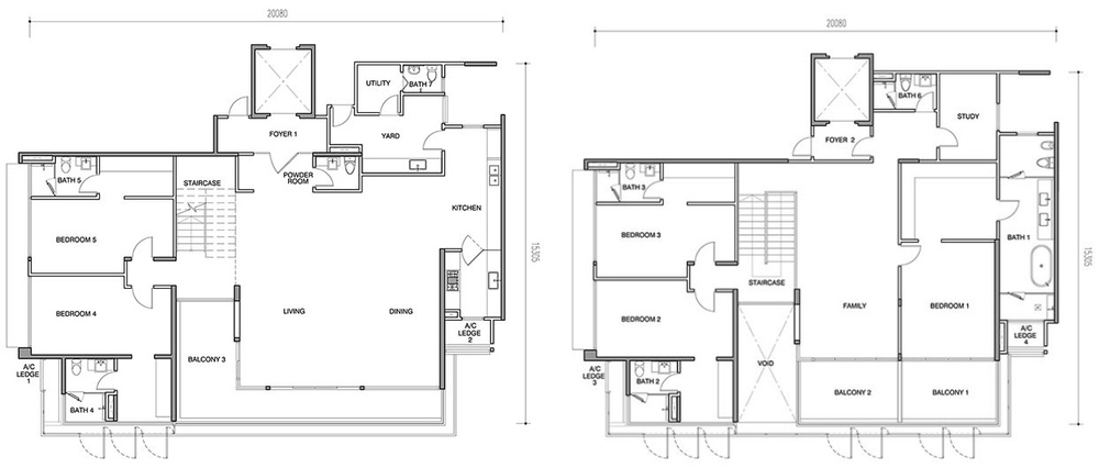 Seri Ampang Hilir Type BP Floor Plan