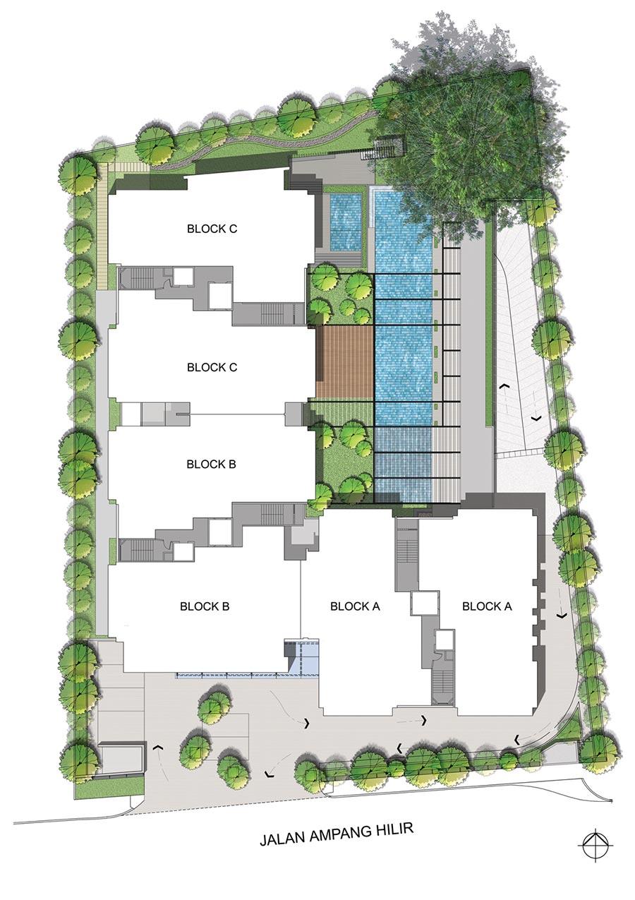 Site Plan of Seri Ampang Hilir