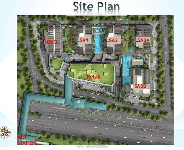 Site Plan of D'Sara Sentral
