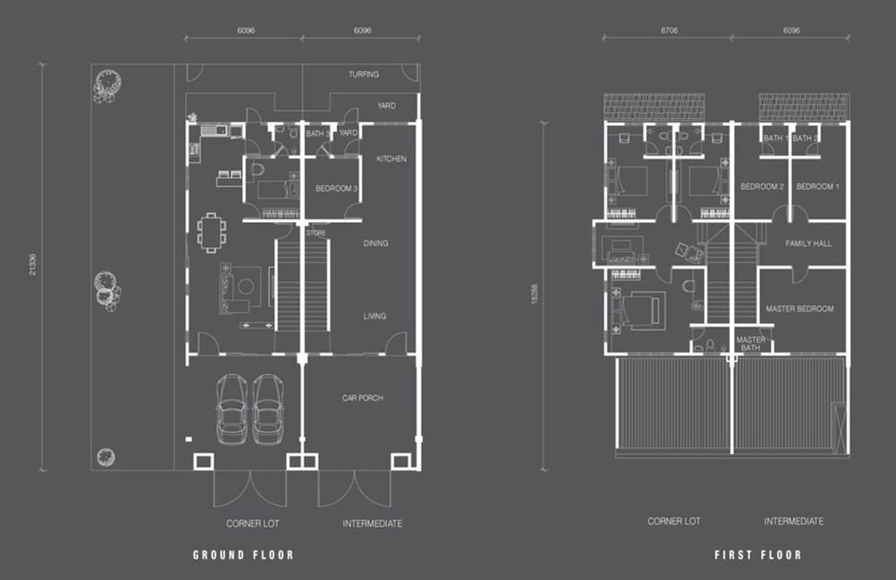 Nada Alam Nada 2 - Double Storey Terrace Floor Plan
